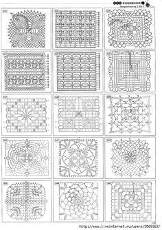 Tons of square crochet motif patterns