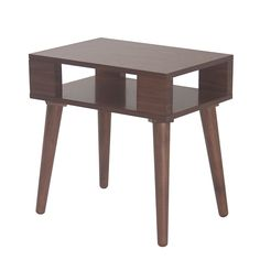 INK IVY Jayce Pecan Mid Century Wood End Table
