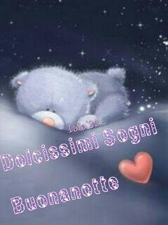 Buonanotte# orsetto# cuore# luna# stelle#