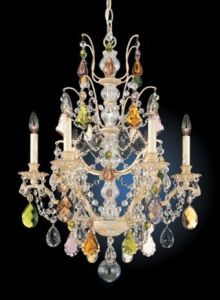 "... Bordeaux 22"" Wide Colored Crystal Chandelier traditional chandeliers"