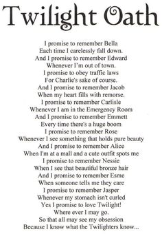 Twilight Oath - love this!