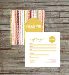 Spring direction double sided gift certificate design by Deidamiah, $12.99