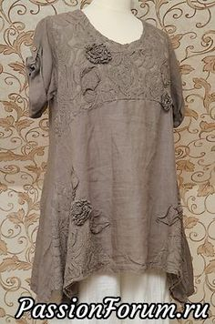 Details about Italian Quirky Lagenlook Tunic Linen Top Flower Design Pockets Gorgeous Mocha Brown Linen Tunic Very Quirky Design Italian Lagenlook Top OSFA Look Boho, Look Chic, Boho Style, Beautiful Outfits, Cool Outfits, Look Fashion, Fashion Outfits, Gothic Fashion, Vetements Clothing