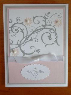 Stampin' Up! Handmade Card Wedding Anniversary Bridal Shower by EllocinDesigns on Etsy https://www.etsy.com/listing/155216192/stampin-up-handmade-card-wedding