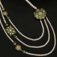 3 Strand Pearl Meenakari Necklace @ Indiatrend for $99.99USD