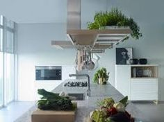 // designed by Jean Louis Iratzoki. Made by Infor Cocinas Green Kitchen, Kitchen Dining, Dining Room, Dining Table, Feng Shui, Interior Architecture, Interior Design, Loft, House