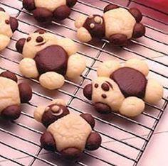 Yummy Teddy Bear Cookies For Kids Recipe Cookies For Kids, Cute Cookies, Yummy Cookies, Yummy Treats, Sweet Treats, Köstliche Desserts, Delicious Desserts, Teddy Bear Cookies, Teddy Bears