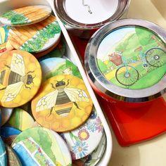 A fresh batch of #handmade #badges this morning! Ceridwen Hazelchild Design