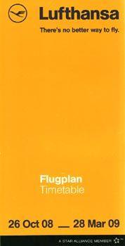 Lufthansa Timetable, 2008
