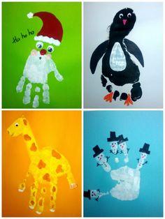 Handprints for the calendar hanseaten-herz.- Handprints for the calendar hanseaten-herz.bl … – # for # handprints - Christmas Crafts For Kids, Baby Crafts, Toddler Crafts, Christmas Projects, Diy Crafts For Kids, Kids Christmas, Projects For Kids, Holiday Crafts, Fun Crafts