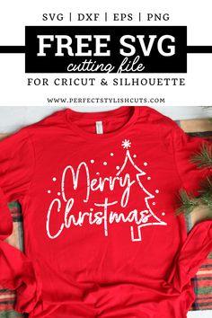 Cricut Craft Room, Cricut Vinyl, Christmas Svg, Christmas Shirts, Shilouette Cameo, Cricut Tutorials, Cricut Ideas, Christmas Craft Projects, Free Svg Cut Files
