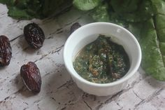 Swiss Chard & Date Puree Baby Food: Teach flavor preference for leafy greens using a dates to balance the bitter flavor. This baby food recipe is loaded with B-vitamins, vitamin K, vitamin A, vitamin C and calcium.