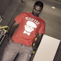 #streetwear mightee logo tee red