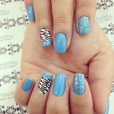 Zebra print blue glitter nails nails nail pretty nails blue nails nail art zebra print glitter nails nail ideas nail designs