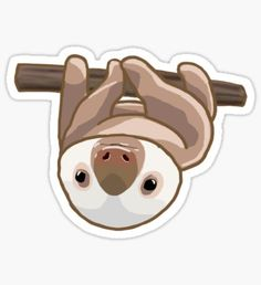 A cute design or illustration of an adorable stack or sloths. Great as stickers and t-shirts. Perfect for those who love sloths, animals, or kawaii art. Baby Sloth, Cute Sloth, Baby Animals, Cute Animals, Tumblr Stickers, Aesthetic Stickers, My Spirit Animal, Laptop Stickers, Kawaii Stickers