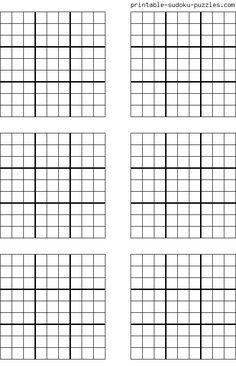 Free Sudoku Blank Forms | Sudoku printable grids - Toronto: Art ...
