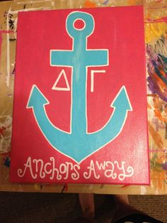 Delta Gamma Big/Little crafts! All hand painted.