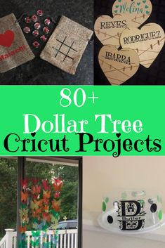 Dollar Tree Cricut and Silhouette Projects Dollar Tree Cricut-Projekte / Dollar Tree Crafts / Dollar Tree Projects / Dollar Store Crafts / Cricut-Projektideen / Cricut Maker / Cricut Explore Air / Dollar Tree Cricut, Dollar Tree Crafts, Cricut Craft Room, Cricut Vinyl, Cricut Air, Cricut Help, Silhouette Projects, Fun Craft, Craft Ideas