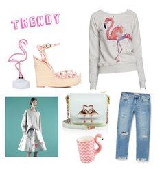 """Flamingo"" by explorer-145728669310 on Polyvore featuring мода, MANGO, Sophia Webster, Sunnylife, Accessorize и Ziggy"