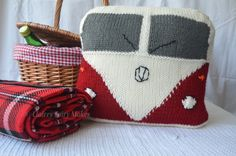 Quirky gift for any camper lover! A quirky fun Campervan cushion available in pistachio green china blue or cardinal red. Hand knitted and embroidered available already stuffed with a cushion pad or just the cover. Classic Campers, Retro Campers, Campervan Gifts, Camper Cushions, Green China, Knitted Cushions, Pistachio Green, Quirky Gifts, Cushion Pads