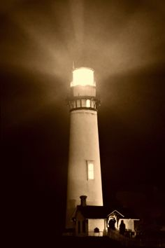 Pigeon Point   BW  O by Ron Becker