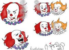 Clownies by deusodemon on DeviantArt Horror Movie Characters, Horror Movies, Black Girl Art, Art Girl, Clown Names, What Is My Life, Best Crossover, Cute Clown, Pennywise The Dancing Clown