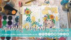 """The Joy and Love of the Lord is my Strength"" Gracelilly Faith Art Process Video by Ansu Badenhorst"