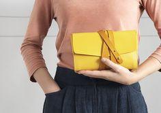 M.Hulot Garrard Clutch Bag in Yellow.