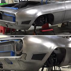If you were wondering what the hole in the side of the body was...? Well it's an air duct for the intake! Trying to get all the air we can to feed the @magnusonsuperchargers @erl_performance ls7 #chevy #1969 #camaro #fab101 #custom #fabrication #lasercut #magnuson #erlperformance #wilwood #forgelinewheels #dakotadigital #meguiarsusa #hedindustries #speedshop