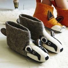 Billie Badger Slippers....I love the fox ones better!