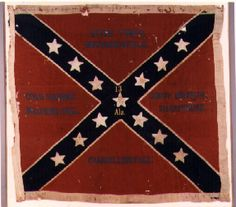 Alabama Battle Flag | battle flag something similar to this 13th alabama infantry flag lost at Gettysburg July 3, 1863.