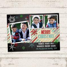 Christmas Photo Card  5x7 printable download  3 by ValeriePullam, $13.00