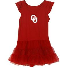 Oklahoma Sooners Toddler Girls Ballerina Dress - Crimson @Fanatics ® #FanaticsWishList