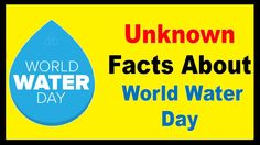 Top 20 Facts About World Water Day 2018 world water day is celebrated every year on of march to increase the awareness towards the importance of water. Water Facts, Importance Of Water, World Water Day, Water Well, Elementary Art, Earth, Youtube, Ideas, Fountain