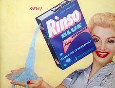 Rinso detergent, 1954