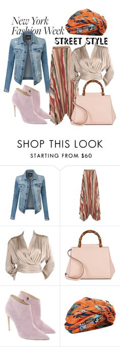 """""""Untitled #15"""" by evrimkryl ❤ liked on Polyvore featuring LE3NO, Alice + Olivia, Yves Saint Laurent, Gucci, Ralph Lauren and Dee Di Vita"""