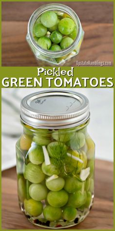 Green Tomatoes These spicy Pickled Green Tomatoes are a quick and easy way to use up the last of your garden's harvest! These green cherry tomatoes are pickled with vinegar, garlic, dill and red pepper for a tasty bite size refrigerator pickle.These spicy Canning Vegetables, Canning Tomatoes, Pickled Cherries, Pickled Banana Peppers, Stuffed Banana Peppers, Cherry Tomato Recipes, Recipes For Green Tomatoes, Pickled Green Tomatoes, Canning Pickles