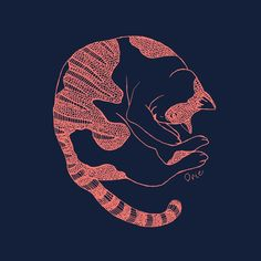 【Curl up cat】#illust #catart #design #猫 #cat #イラスト #猫デザイン #猫イラスト #細密画 #猫の絵 Cat Art, Illustration Art, Cats, Animals, Gatos, Animales, Animaux, Animal, Cat