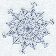 Intricate Snowflake F Embroidered Flour Sack Hand/Dish Towel. $12.99, via Etsy.