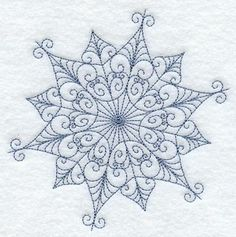 Intricate Snowflake F Embroidered Flour Sack Hand/Dish Towel. $12.99, via Etsy.