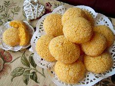 Biscotti al limone con farina di mais fioretto | Ricetta Pastry Recipes, Cake Recipes, Snack Recipes, Snacks, Polenta, Biscotti Cookies, Yummy Cookies, Farina Recipe, Italian Cookies