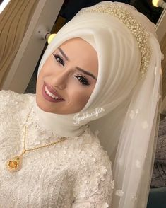 Wedding & Care – Best Of Likes Share Muslim Wedding Gown, Hijabi Wedding, Wedding Hijab Styles, Wedding Robe, Muslim Wedding Dresses, Muslim Brides, Pakistani Bridal Dresses, Muslim Girls, Hijab Style Dress
