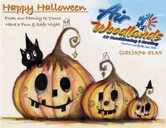 Happy Halloween From Air Woodlands A/C & Heating!