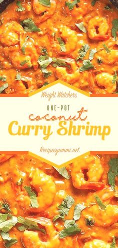 One-Pot Coconut Curry Shrimp One-Pot Coconut Curry Shrimp Mia miakaczmarek Essen One Pot Coconut Curry Shrimp weightwatchers weight watchers ketogenic lowcarb ketodiet onepot coconut curry nbsp hellip Fish Recipes, Seafood Recipes, Indian Food Recipes, Dinner Recipes, Cooking Recipes, Healthy Recipes, Drink Recipes, Healthy Meals, Deserts