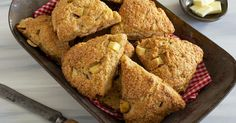 FRESH APPLE CINNAMON SCONES-Moist, flavorful scones made with fresh diced apple and cinnamon chips.-this got 5 stars from 130 reviewers!!