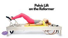 Pelvic Lift on the Reformer Pilates Studio, Pilates Reformer, Pilates Workout, Pilates Classes, Pilates Equipment, Joseph Pilates, Chair Yoga, Yoga Session, Yoga Accessories