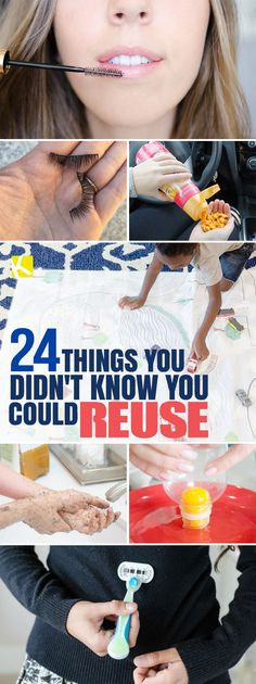 24 Things You Didn't Know You Could Reuse | Did you know you can reuse things like mascara wands, shower curtains, and coffee grounds?!