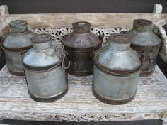 Milk Containers - Iron Pots