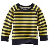 An easy layer for fall, this striped sweatshirt adds a sporty touch to any style.