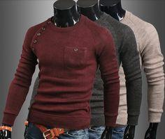 Men Retro Cotton Cultivation Sweater
